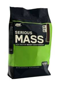 Optimum Nutrition Serious Mass 5.4kg £33.95 (£32.50 after poss cashback) @ GNC