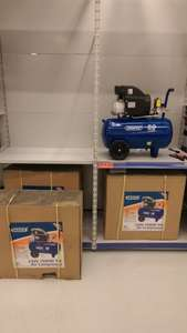 Draper 50L Air Compressor 1500w 2 HP 116 PSi 8 Bar 240v at Makro for £80