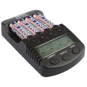 Intelligent battery charger (don't fry your batteries!) -  Multi Mode LCD Display Ni-Mh Battery Charger for AA and AAA Batteries £16.99 7dayshop