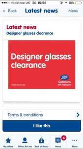 Designer glasses half price £150 @ Boots