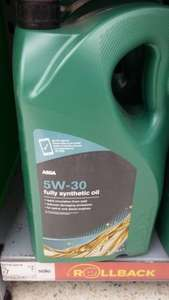 ASDA Fully Synthetic Oil 5w-30 @ £7 for 5L
