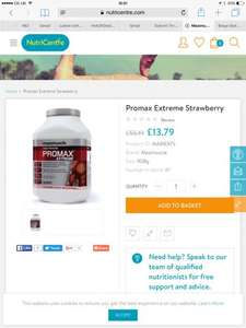 Nutricentre Maximuscle Promax extreme strawberry £55.19 reduced to £13.79