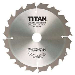 Titan TCT Circular Saw Blade 16T 150 x 10/12.75/20mm .99p @ Screwfix