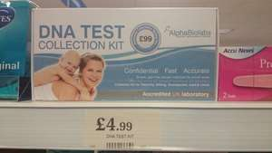 DNA test collection kit £4.99 @ Home bargains