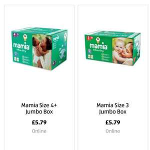 *** Aldi Mamia nappis box delivered free £5.79 *** ( preorder size 3,4,4+,5 links below)
