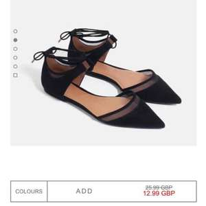 Zara - Mesh D'orsay shoes now half price £12.99 instore