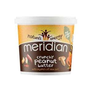 Meridian Natural Crunchy Peanut Butter With No Added Salt 1 Kg (Pack of 2) £8.22 (Prime) @ Amazon