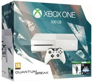 White Xbox One 500GB With Quantum Break & NOW TV Movies 2 Month Pass OR Name Your Game Bundle - £219.99 (With FIFA 16 & Fallout 4 - £229.99 / With FIFA 16 & Dark Souls 3 - £239.99) - Game