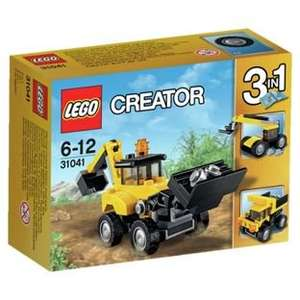 LEGO Creator 3 in 1 Construction Vehicles (31041) Set Now £3.49 Free C+C @ Argos