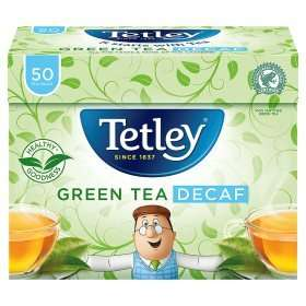 Tetley Green Tea Decaf 50 Tea Bags  £1 Asda