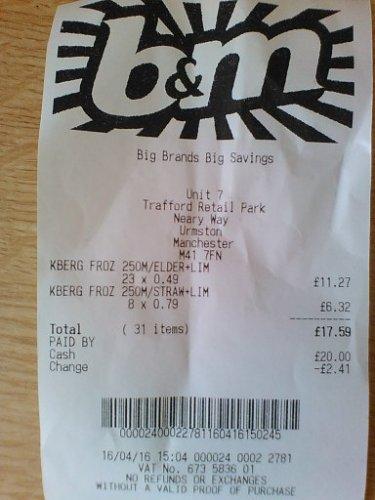 Kopparberg frozen fruit cider £0.49 at B&M