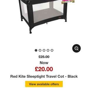 ASDA - Red Kite Sleeptight Travel Cot £20 back in stock!