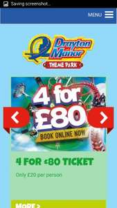 Drayton mannor ends Tuesdays. 4 tickets for 80