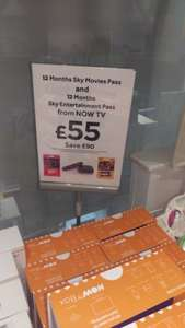now tv box in currys for £55 and 12 months entertainment and 12 months movies