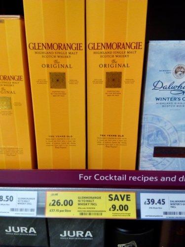 Glenmorangie 10yr old Single Malt £35 down to £26 @ Tesco