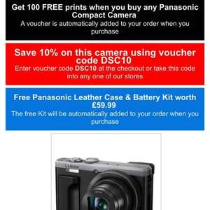 Panasonic TZ80 10% off + free case / battery, cheapest yet £296 @ Jessops