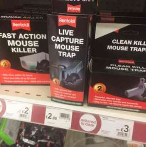 Mouse traps and poison reduced to clear £2 @ Wilkos in store
