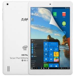 "Teclast X80 Plus Tablet Windows 10 + Android 5.1 Tablet PC £57.71 Intel Atom X5-Z8300 64bit Quad Core 1.44GHz WXGA IPS 8"" Screen 2GB RAM 32GB ROM WiFi Bluetooth 4.0 HDMI Functions @ Gearbest"