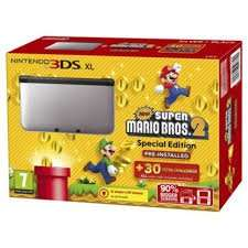 3DS XL Silver + Black + New Super Mario Bros 2 £99 instore @ Tesco