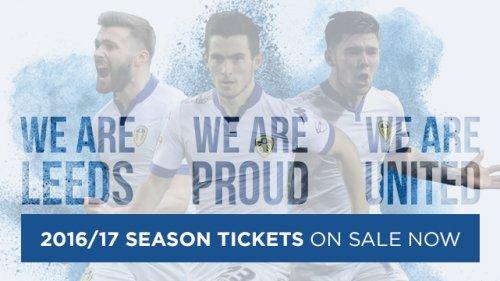 Leeds United 16/17 Season Tickets | 25-50% OFF! |*** £243.50