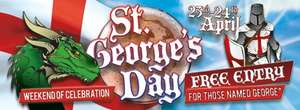 FREE ENTRY to Drayton Manor to anyone named George accompanied by a full paying adult on the 23rd / 24th April