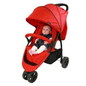 Red Kite Push Me Urban Poppy Three Wheeler Jogger Pushchair now £60 Del @ Tesco Ebay