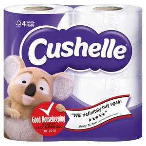 Cushelle Toilet Roll 40 pack £9.58 (incl VAT) 24p per roll 25/4 - 15/5 offer @ Costco
