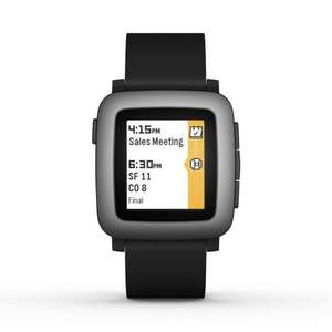 Pebble Time Smartwatch for Smartphone - Black - £88.06 Sold by Unique daily deals (Prime) and Fulfilled by Amazon.