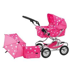 Mamas & Papas Xcel Dolls Deluxe Pram Set for ages 5-10yrs in Strawberry Snow now £35 del @ Tesco Ebay