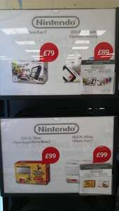 3ds xl £89 or £99 with mario cart instore @ Tesco (Colchester)
