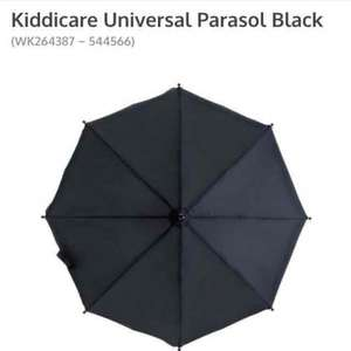 Kiddicare - Black Universal Pram / Buggy Parasol  Baby Sun Shade £1.99