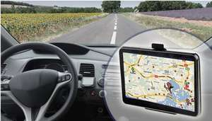 GPS Sat-Nav with EU and UK Maps - 4.3 Inch Touchscreen £23.99 gogroopie