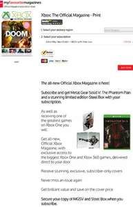 Xbox The Official Magazine, Print sub with Free Limited Metal Gear Solid V for Xbox One £29.50 @ My favourite magazine deals