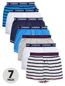 Demo Boys Essential Boxers (7 Pack) Ages 5-12 £4.75 to £5.50 @ Very Free C&C