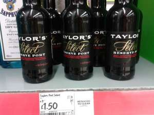 Taylor's Select Reserve Port 20cl reduced to £1.50 at Asda, in-store