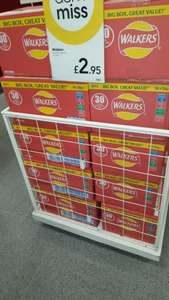 Box of 30 packets of Walkers crisps £2.95 at Wilko