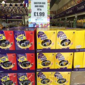 Large Easter egg + including a bag of mini chocolates + Cadburys mug £1.99 Cadburys outlet
