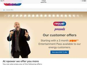 Nowtv 3 month entertainment free from npower