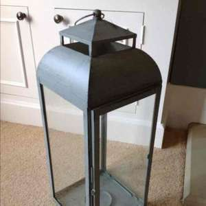Sainsburys - Large grey metal lantern - £9.60 in store was £35.