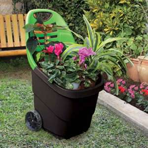 HOME BARGAIN 65 LITRES STORAGE / WORK / GARDEN TROLLEY