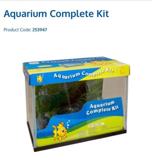 B&M Complete Aquarium / Fish Tank Kit (31 x 24 x 18cm) £12.99