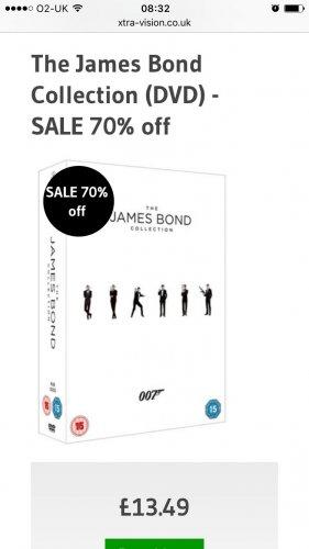 James Bond Collection £13.49 DVD @ Xtra-vision