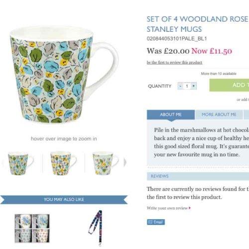 Cath Kidston Woodland Rose Stanley Mugs Set Of 4 £11.50