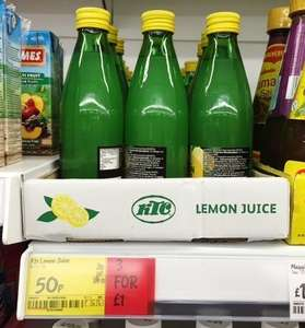 KTC Lemon Juice 250ml 3 for £1 @ ASDA