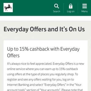 Potentially Approx Free £10 for Lloyds Customer with Everyday Offers