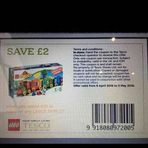 £2 off £10 spend on Lego Duplo £8.40 @ Tesco in store only