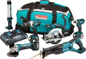 Makita 6 Tool 18V Kit with 3 X 4AH Li-Ion Batteries, Dual Charger & Toolbag £570 @ Lawsons