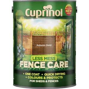 Cupinol Fence Care 5 litres £4.95 @ Wilko (Homebase Pricematch + 10% off poss  £4.15