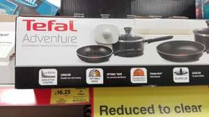 Tefal Adventure 4-piece non-stick pan set RRP £65, only £16.25 in store @ Tesco