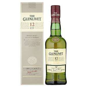 The Glenlivet Single Malt Whisky 12 Years Old 35cl (half bottle) £10 @ Booths